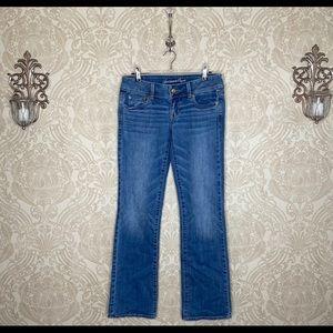 American Eagle vintage Slim Boot light wash jeans